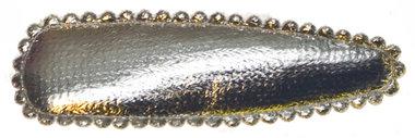 Haarkniphoesje zilver 5 cm (ca. 100 stuks)