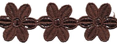 Bruin bloemband 50 mm (ca. 4 m)