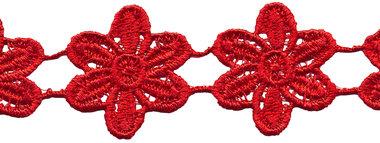 Rood bloemband 50 mm (ca. 4 m)