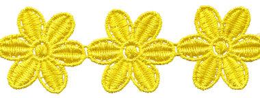 Geel bloemband 50 mm (ca. 4 m)
