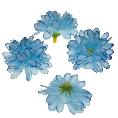 Chrysant blauw met ronde blaadjes ca. 5 cm (10 stuks)