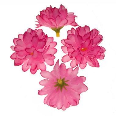Chrysant roze met ronde blaadjes ca. 5 cm (10 stuks)