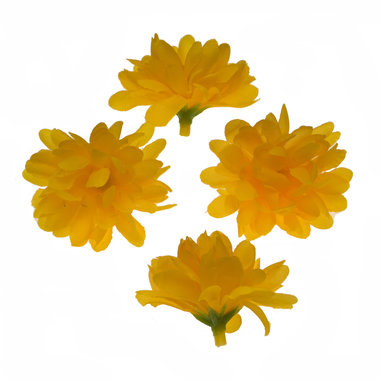 Chrysant geel met ronde blaadjes ca. 5 cm (10 stuks)