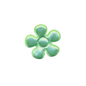 Applicatie bloem mintgroen satijn effen klein 20 mm (ca. 100 stuks)