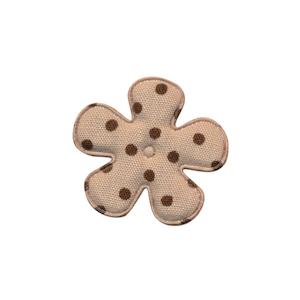 Applicatie bloem zand met donker bruine stip katoen klein 25 mm (ca. 100 stuks)