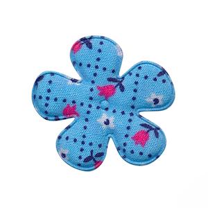 Applicatie bloem blauw met tulpjes middel 35 mm (ca. 100 stuks)