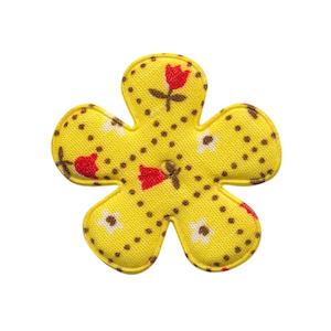Applicatie bloem geel met tulpjes middel 35 mm (ca. 100 stuks)