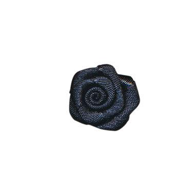 Roosje satijn zwart 20 mm (ca. 25 stuks)