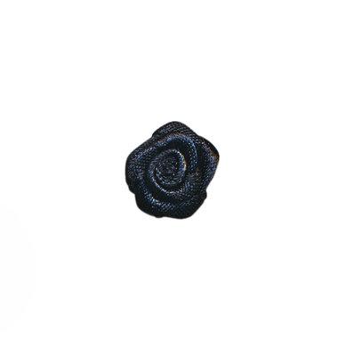 Roosje satijn zwart 15 mm (ca. 25 stuks)