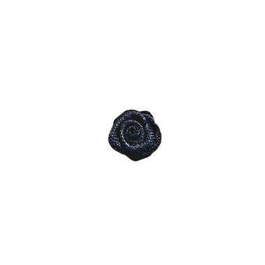 Roosje satijn zwart 10 mm (ca. 25 stuks)
