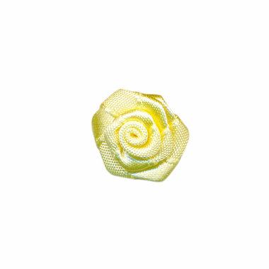 Roosje satijn zacht geel 20 mm (ca. 25 stuks)