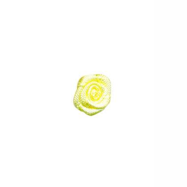 Roosje satijn zacht geel 10 mm (ca. 25 stuks)