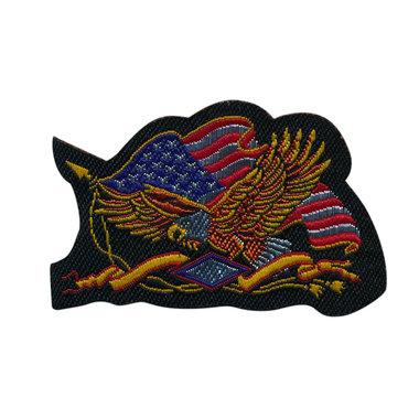 Opstrijkbare applicatie Amerikaanse vlag met zeearend (5 stuks)