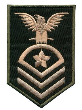 Opstrijkbare applicatie leger met adelaar en ster (5 stuks)