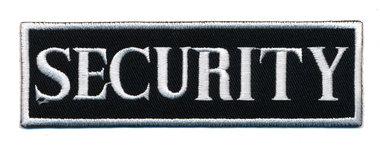 Opstrijkbare applicatie 'SECURITY' zwart/wit (5 stuks)