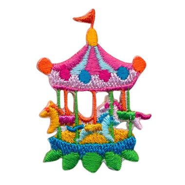 Opstrijkbare applicatie carousel (5 stuks)