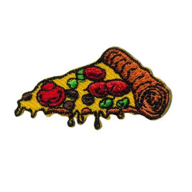 Opstrijkbare applicatie pizza punt (5 stuks)