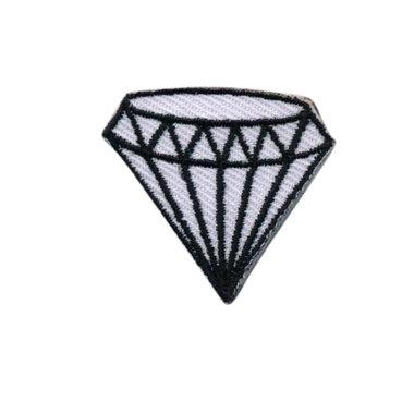 Opstrijkbare applicatie diamant wit (5 stuks)