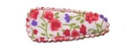 Haarkniphoesje met bloemenprintje rood 3 cm (ca. 100 stuks)