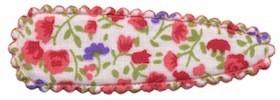 Haarkniphoesje met bloemenprintje rood 5 cm (ca. 20 stuks)