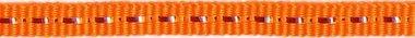 Oranje band met zilverdraad 7 mm (ca. 25 m)