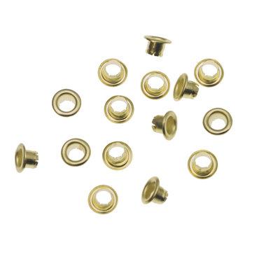 Nestels 4 mm (maat #261) goudkleurig staal (ca. 1.000 stuks)