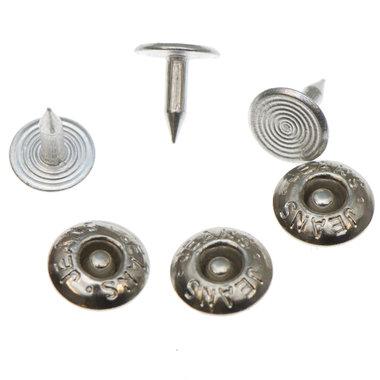Jeans spijker zilverkleurig staal 10 mm #801 (ca. 500 sets)