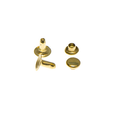 Holniet goudkleurig staal 6 mm (ca. 1000 sets)