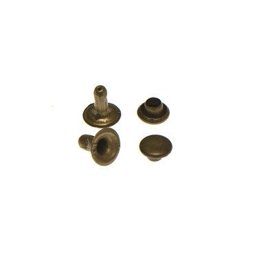 Holniet bronskleurig staal 6 mm (ca. 1000 sets)