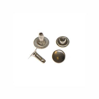 Holniet nikkelkleurig staal 6 mm (ca. 1000 sets)