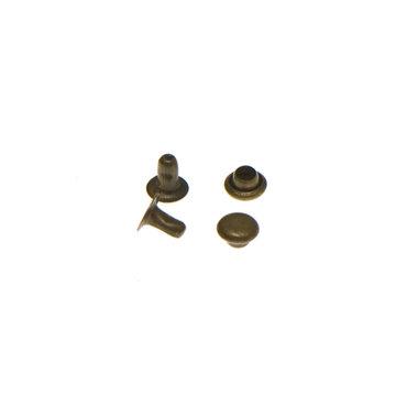 Holniet bronskleurig staal 5 mm (ca. 1000 sets)