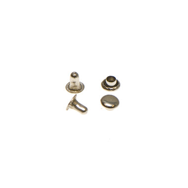 Holniet nikkelkleurig staal 5 mm (ca. 1000 sets)