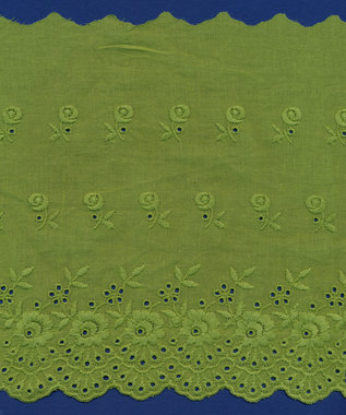 Broderie groen KATOEN 175 mm #62883 (ca. 13,5 m)