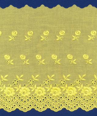 Broderie geel KATOEN 175 mm #62883 (ca. 13,5 m)