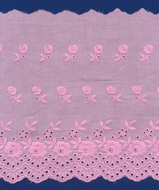 Broderie roze KATOEN 175 mm #62883 (ca. 13,5 m)