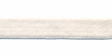 Gebroken wit fluweelband 13 mm (ca. 32 m)