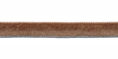 Taupe fluweelband 9 mm (ca. 32 m)
