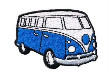 Opstrijkbare applicatie 'VW bus' jeansblauw klein (5 stuks)