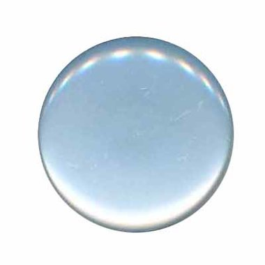 Knoop glans licht blauw 25 mm (ca. 25 stuks)