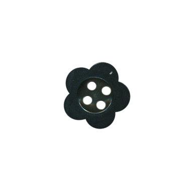 Bloemknoop zwart met 4 gaten 12 mm (ca. 100 stuks)