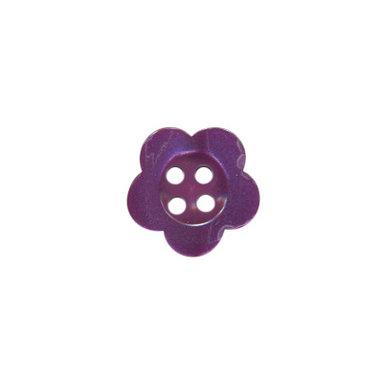 Bloemknoop paars met 4 gaten 12 mm (ca. 100 stuks)