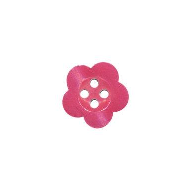 Bloemknoop fuchsia met 4 gaten 12 mm (ca. 100 stuks)