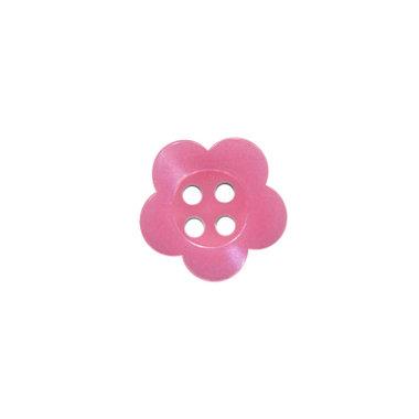 Bloemknoop roze met 4 gaten 12 mm (ca. 100 stuks)