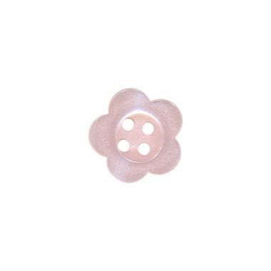 Bloemknoop zalmroze met 4 gaten 12 mm (ca. 100 stuks)