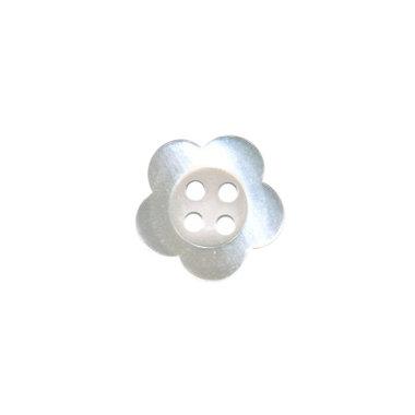 Bloemknoop wit met 4 gaten 12 mm (ca. 100 stuks)
