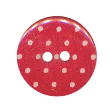 Knoop cyclaam met witte stippen 25 mm (ca. 25 stuks)