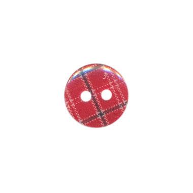 Knoop geruit rood/blauw 12 mm (ca. 100 stuks)