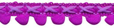 2-kleurig lusjesband paars-lila 15 mm (ca. 16 meter)