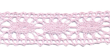 Kant licht roze ca. 25 mm (ca. 10 m)