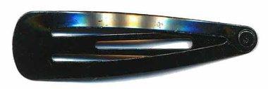 Klik-klak haarknipje ZWART 4,5 cm (ca. 20 stuks)